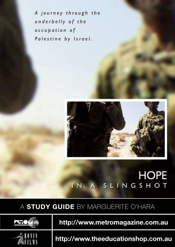 to download HOPE IN A SLINGSHOT study guide - Ronin Films