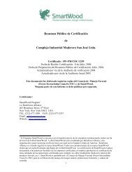 Resumen Público de Certificación de Complejo Industrial Maderero ...