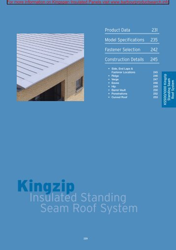 Kingzip Seam Roof System - BD Online Product Search