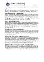Medlemsbrev 2010-07-05 - Sveriges läkarförbund