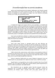 A transformação lean no correio canadense - Lean Institute Brasil