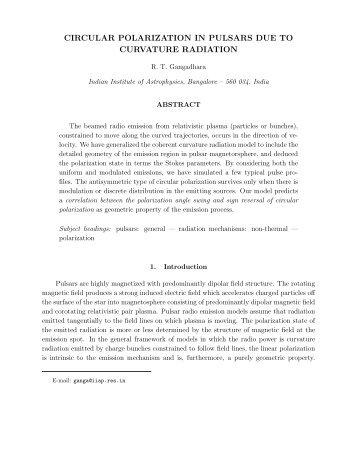 circular polarization in pulsars due to curvature radiation