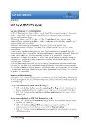 SGF GOLF RANKING 2012 - Golf.se