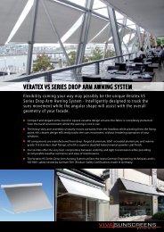Veratex VS SerIeS drop arm awnIng SyStem - Viva Sunscreens