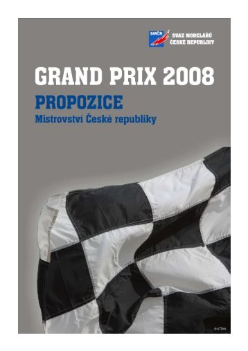 propozice grand prix 2008 - Slot Racing