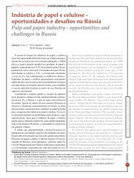 Indústria de papel e celulose - oportunidades e ... - Revista O Papel