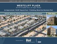 WESTCLIFF PLAZA - Property Line