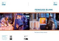 Investment casting technical data sheets - FEINGUSS BLANK GmbH