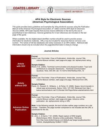 apa style sources
