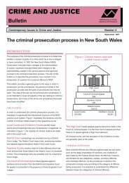 The criminal prosecution process in New South Wales
