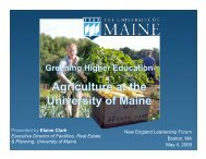 Agriculture at the University of Maine - New England Board of ...