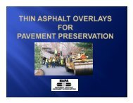 Location Traffic Underlying Pavement Performance, yrs. - Asphalt ...
