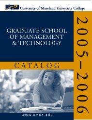C ATA LO G - UMUC - University of Maryland University College
