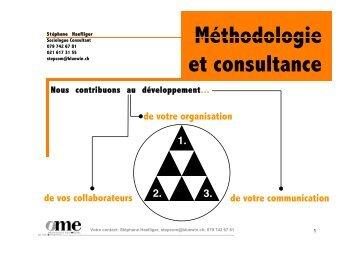 Développement de carrière - Stéphane Haefliger Sociologue