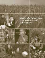 Food Security and Public Health - Healthy Eating & Active Living