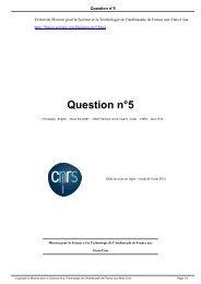 Question n°5 - Mission pour la Science et la Technologie ...