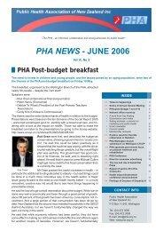 PHA NEWS - JUNE 2006 - Public Health Association of New Zealand