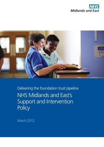 NHS Midlands and East's Support and Intervention Policy