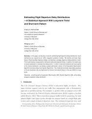Estimating Flight Departure Delay Distributions —A ... - nextor ii