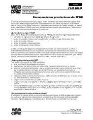Resumen de las prestaciones del WSIB