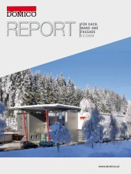 REPORT für Dach, WanD unD fassaDe 12/2009 - Domico