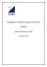 (HIPE) Data Dictionary 2012, Version 4.0 - ESRI