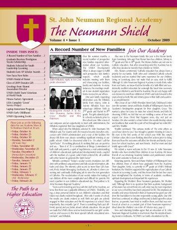 SJNRA Newsletter 10 - St. John Neumann Regional Academy
