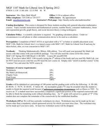 MAT 1033A Intermediate Algebra Syllabus - Faculty Web site ...