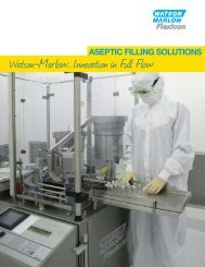 Flexicon aseptic filling solutions overview brochure - Watson-Marlow