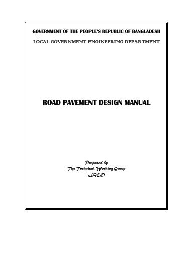 Road Pavement Design Manual - 1999 - LGED