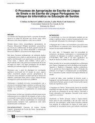 O Processo de Apropriação da Escrita da Língua de Sinais e da ...