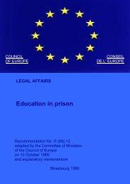 Education in Prison (pdf, 342.5 KB) - EXOCoP