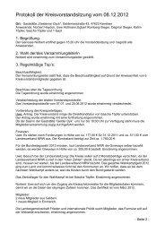Protokoll der Kreisvorstandsitzung vom 08.12.2012 - DIE LINKE ...