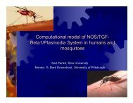 Mosquito-Mammal Environment - Computational and Systems Biology