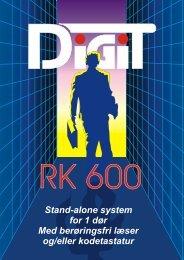 Stand-alone system for 1 dør Med berøringsfri læser og/eller ... - DKC