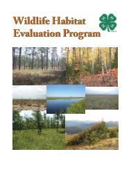 Wildlife Habitat Evaluation Program Wildlife ... - Utah Envirothon