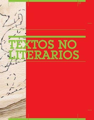 Textos no literarios - Biblioteca de Libros Digitales