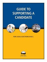 Guide to Supporting a Candidate - Ministry of Community, Sport and ...