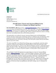 Click Here for PDF - American Hiking Society