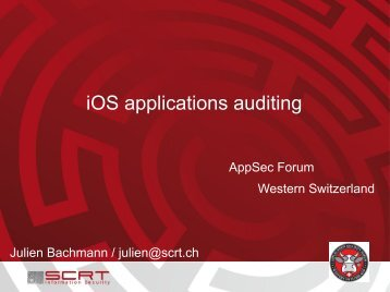 iOS applications auditing - Application Security Forum – Western ...