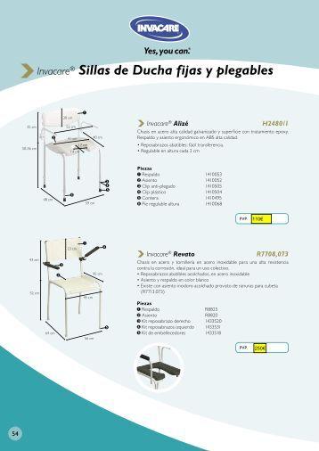 Invacare® Sillas de Ducha fijas y plegables - SCI Geriatria.