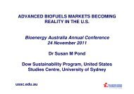 Advanced Biofuels Markets Becoming Reality in the US