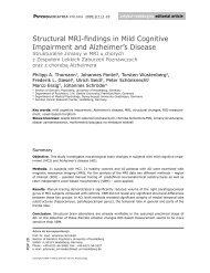 Structural MRI-findings in Mild Cognitive Impairment and ...