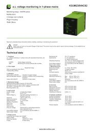 K3UM230VAC02 ac voltage monitoring in 1-phase mains Technical ...
