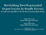 Revisiting developmental experiences in South Korea