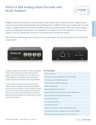 4-Port H.264 Analog Video Encoder with Audio Support - Lobeco