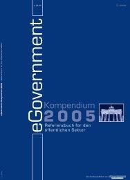vorsprung mit eGovern - eGovernment Computing