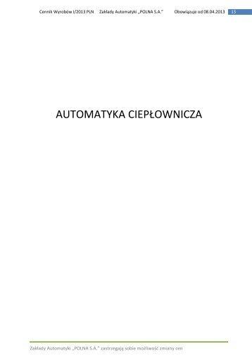 cennik filtry siatkowe - Polna S.A.