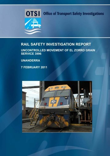 Unanderra - Office of Transport Safety Investigations