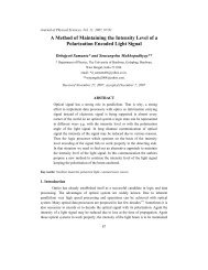 A Method of Maintaining the Intensity Level of a Polarization ...